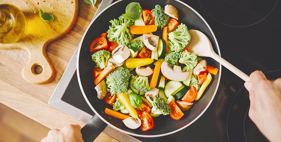 Vegetarisk matkasse ger bättre hälsa och minskad klimatpåverkan